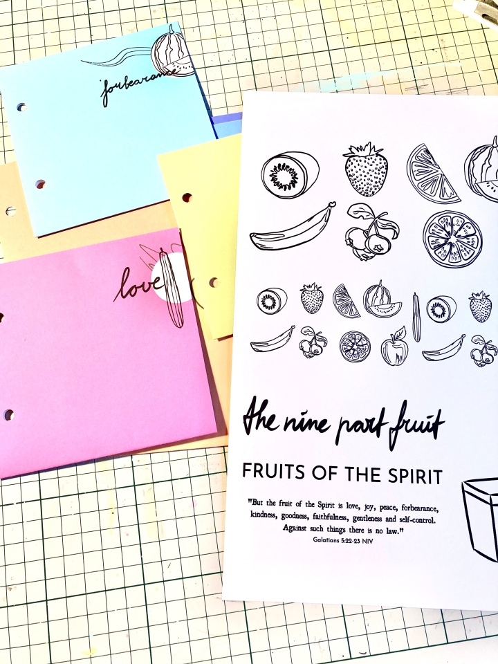 "Freebie printable ""The Nine Part Fruit"""