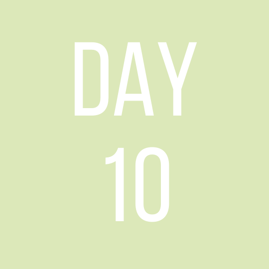 Day 10 Saturday