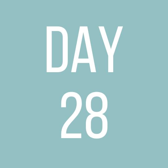 Day 28 Saturday
