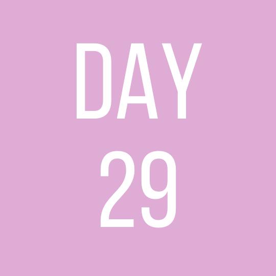 Day 29 Monday