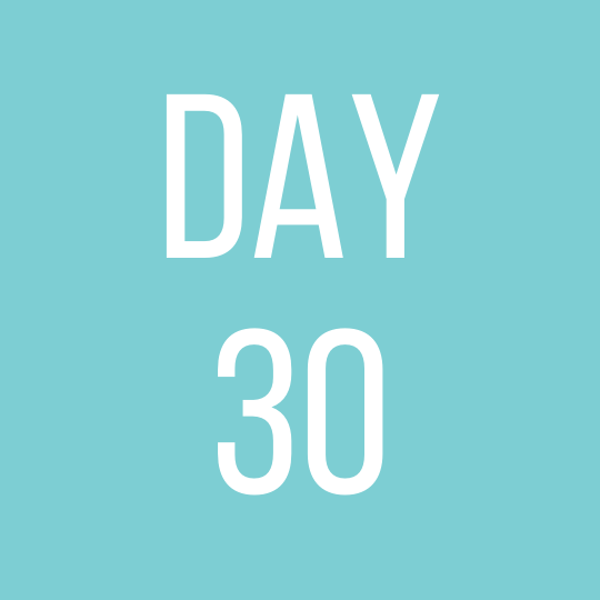 Day 30 Tuesday